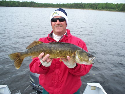 28 inch walleye on Eagle Lake