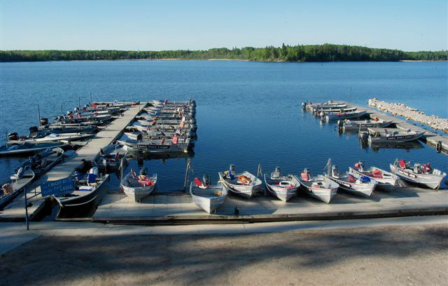 Marina at Cedar Point Lodge, Eagle Lake Ontario